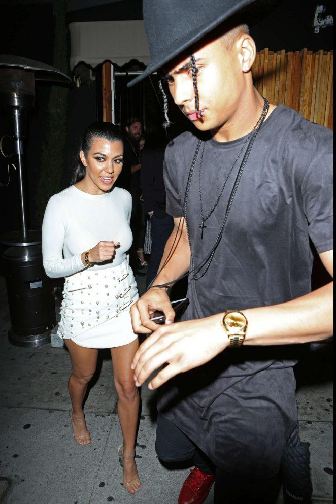 Kourtney Kardashian in Mini Dress at The Nice Guy -12