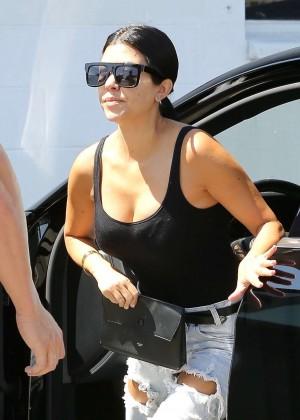 Kourtney Kardashian in Ripped Jeans Out in LA