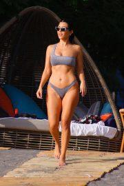 Kourtney Kardashian in Silver Bikini on Vacation in Costa Rica