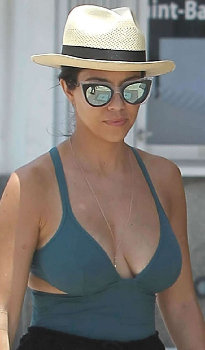 Kourtney Kardashian in Swimsuit out in St. Barts