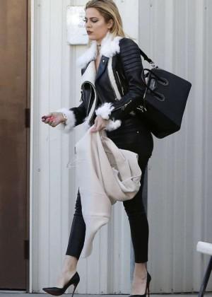 Kourtney Kardashian in Tight Pants -01