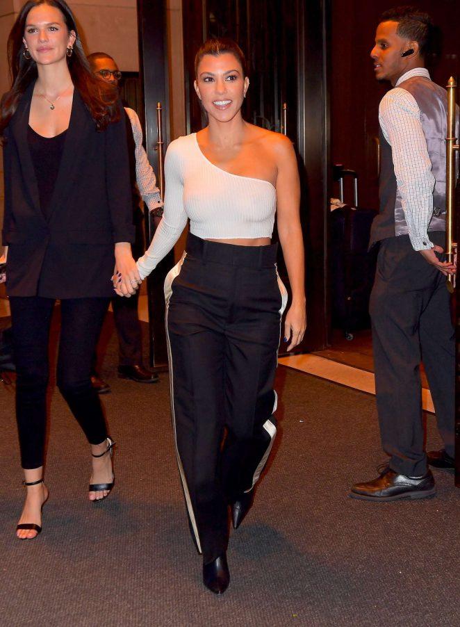 Kourtney Kardashian in White Top – Out in New York
