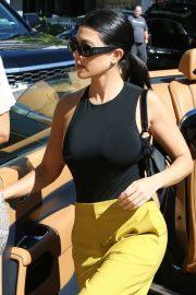 Kourtney Kardashian in Yellow Pants - Shopping in Miami