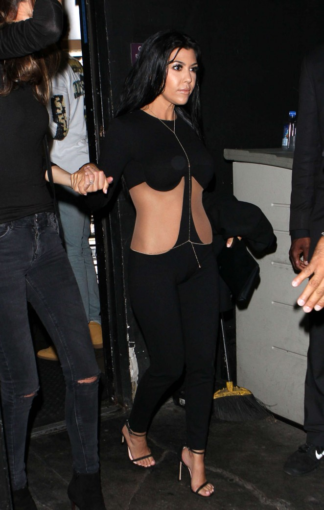 Kourtney Kardashian - Kylie's 18th Birthday in West Hollywood