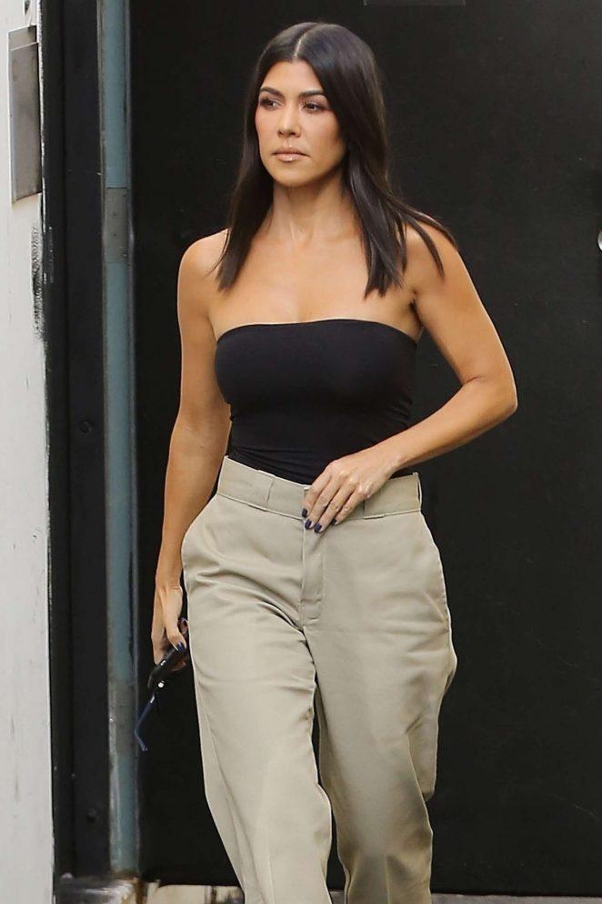 Kourtney Kardashian - Leaves a studio in Los Angeles