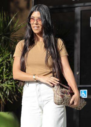 Kourtney Kardashian leaves studio in Calabasas
