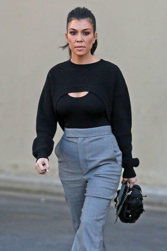 Kourtney Kardashian – Leaves the studio in Calabasas