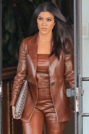 Kourtney Kardashian - Leaves the studio in Los Angeles
