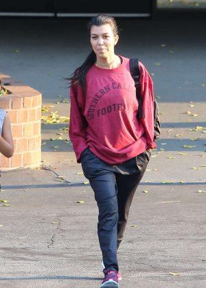 Kourtney Kardashian leaving a gym in Calabasas