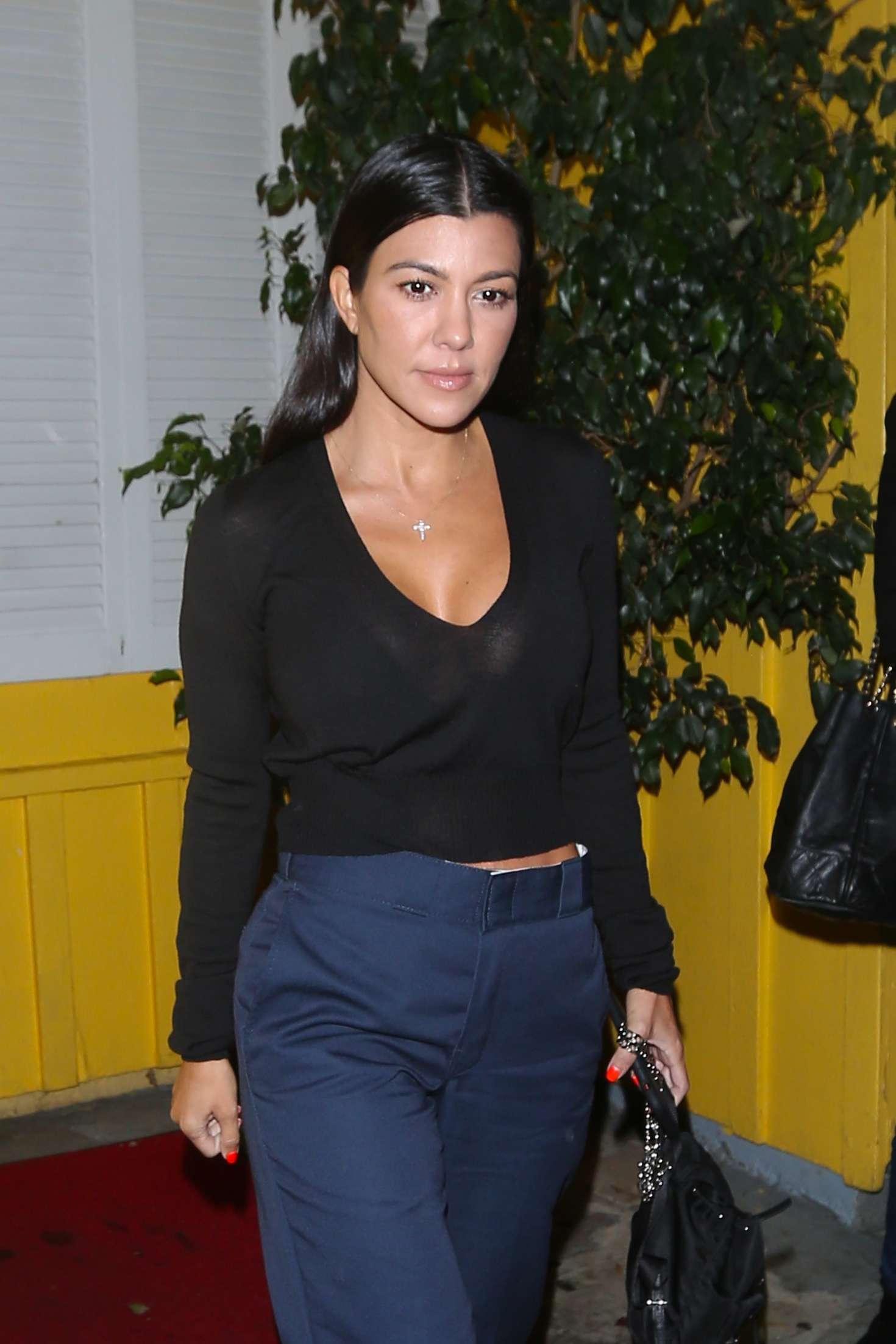 Kourtney Kardashian - Leaving Dan Tana Restaurant in West Hollywood