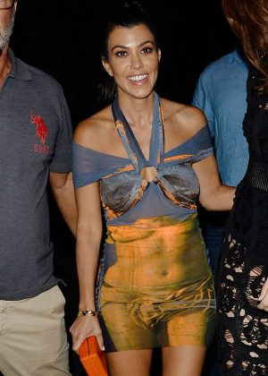 Kourtney Kardashian - Leaving Gotha Nightclub in Cannes