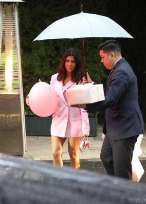 Kourtney Kardashian: Leaving Khloe Kardashians Baby Shower  09