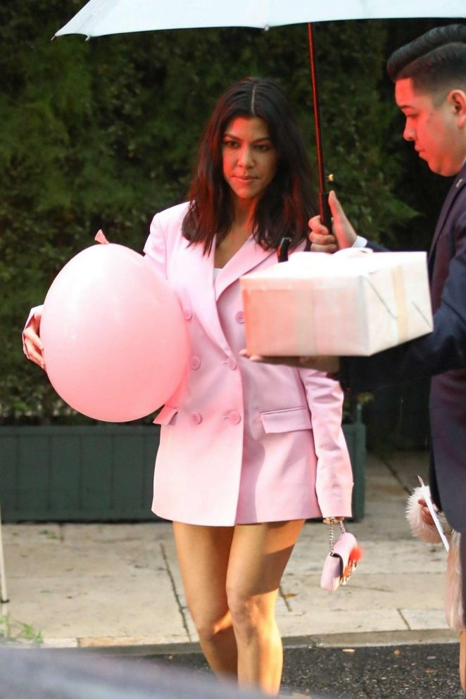 Kourtney Kardashian - Leaving Khloe Kardashian's baby shower in Beverly Hills
