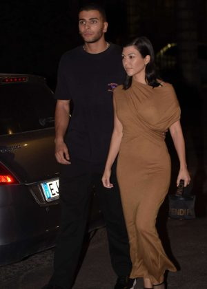 Kourtney Kardashian - Night out in Rome