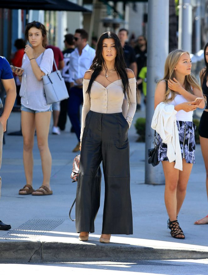 Kourtney Kardashian out and about in Beverly Hills