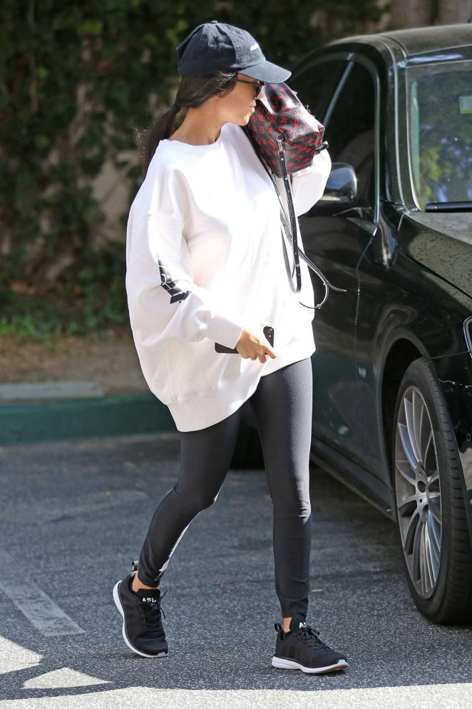 Kourtney Kardashian out and about in Calabasas -02
