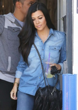 Kourtney Kardashian in Jeans Out in LA