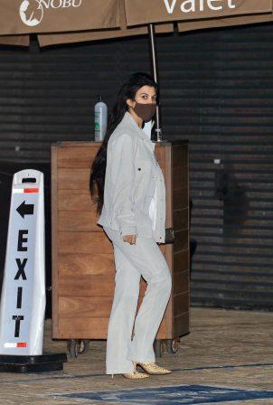 Kourtney Kardashian - Out for a dinner with Mason Disick at Nobu in Malibu