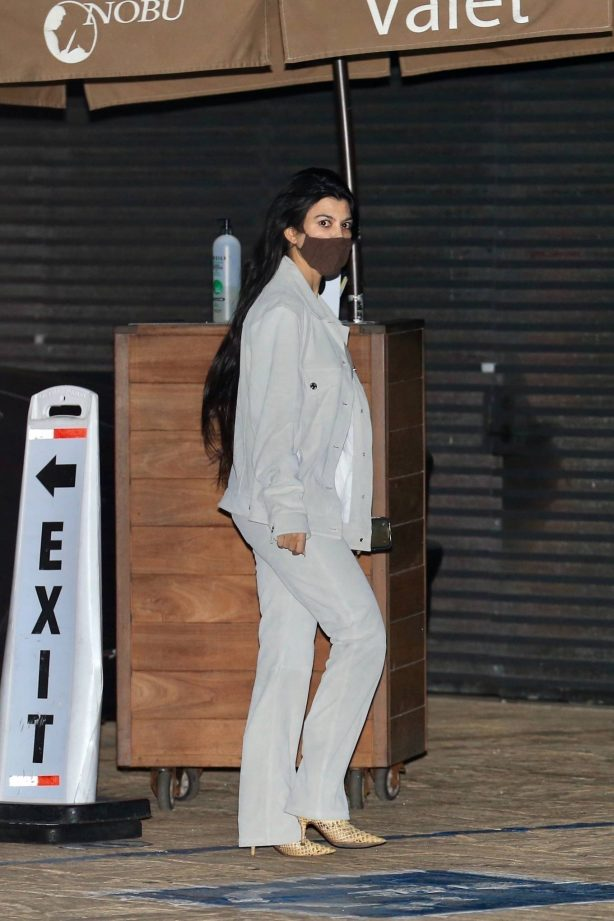 Kourtney Kardashian - Out for a dinner with Mason Disick at Nobu in Malibu