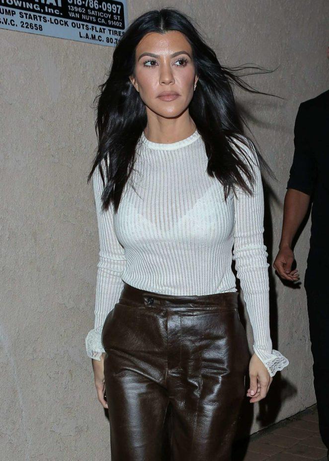 Kourtney Kardashian out for dinner in Los Angeles