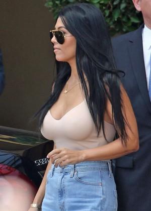 Kourtney Kardashian out in Beverly Hills