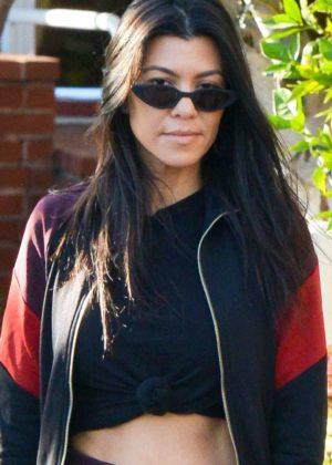 Kourtney Kardashian out in Calabasas