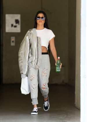 Kourtney Kardashian out in LA