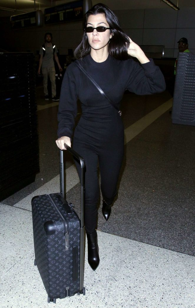 Kourtney Kardashian - Seen at LAX Airport in Los Angeles