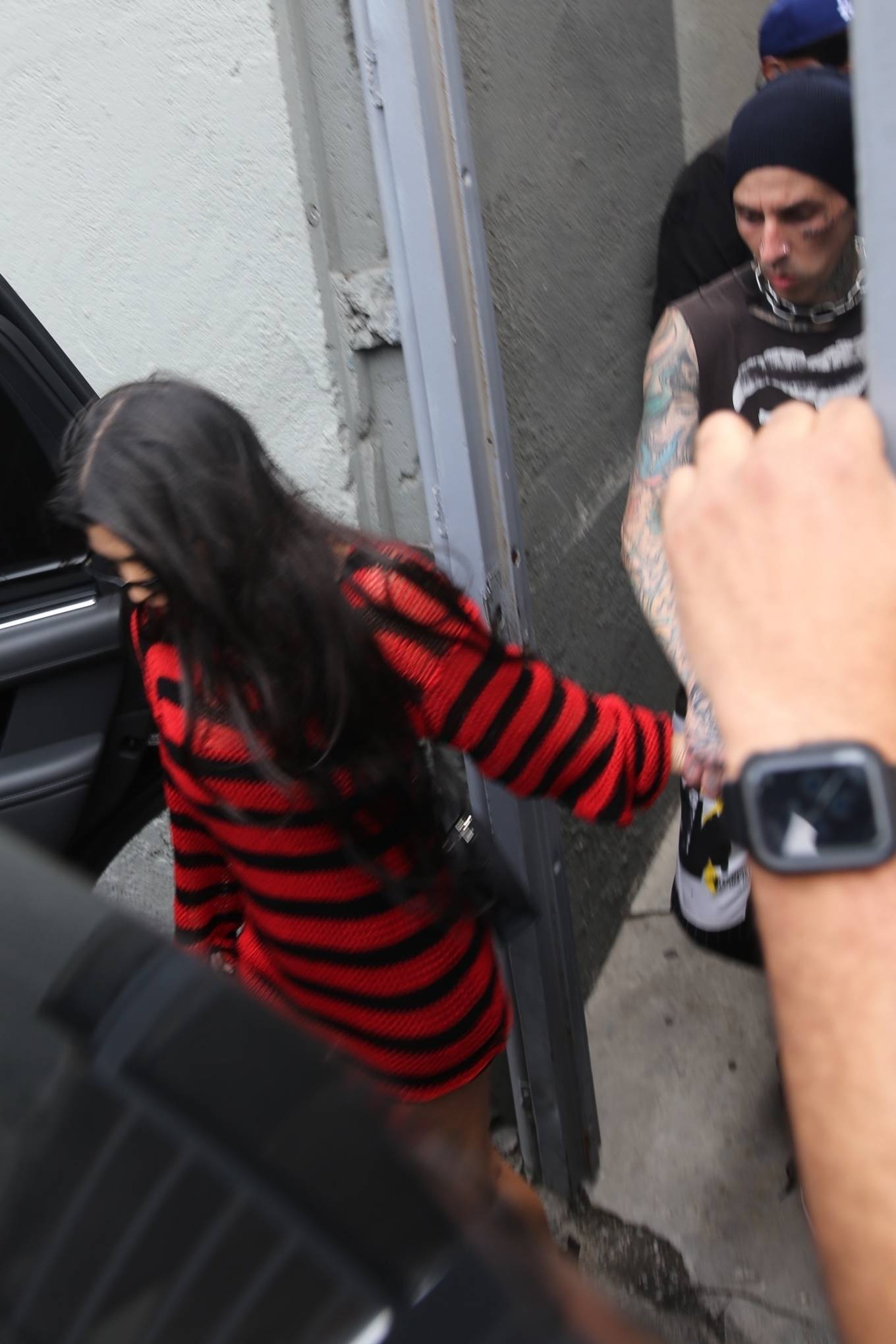Kourtney Kardashian 2021 : Kourtney Kardashian – seen leaving MGKs concert with Travis Barker in Venice beach-06