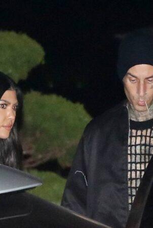 Kourtney Kardashian - Seen leaving Nobu in Malibu