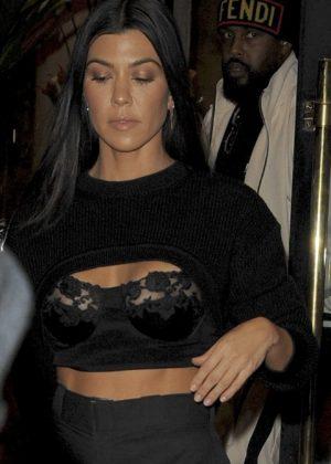 Kourtney Kardashian - Seen out and about Paris Fashion Week France