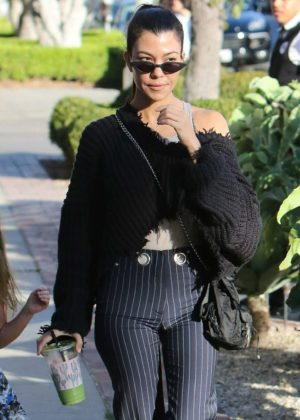 Kourtney Kardashian - Shopping in West Hollywood