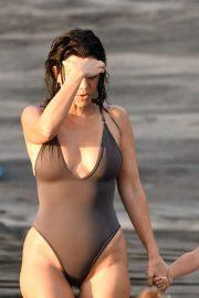 Kourtney Kardashian - Spotted on the beach in Costa Rica