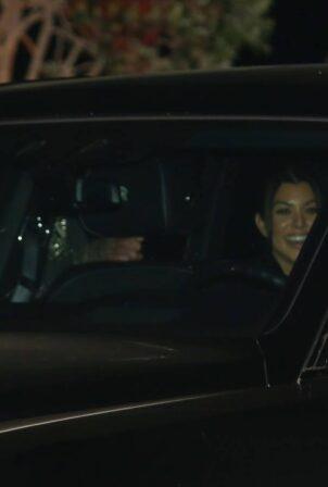 Kourtney Kardashian - Steps out for dinner at Nobu in Malibu