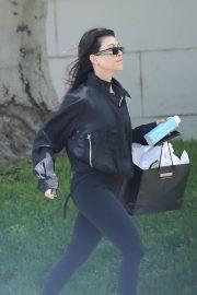 Kourtney Kardashian - Visits a friend in West Hollywood