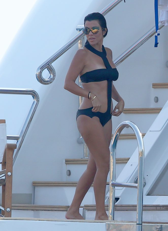 Kourtney Kardashian in Swimsuit -02