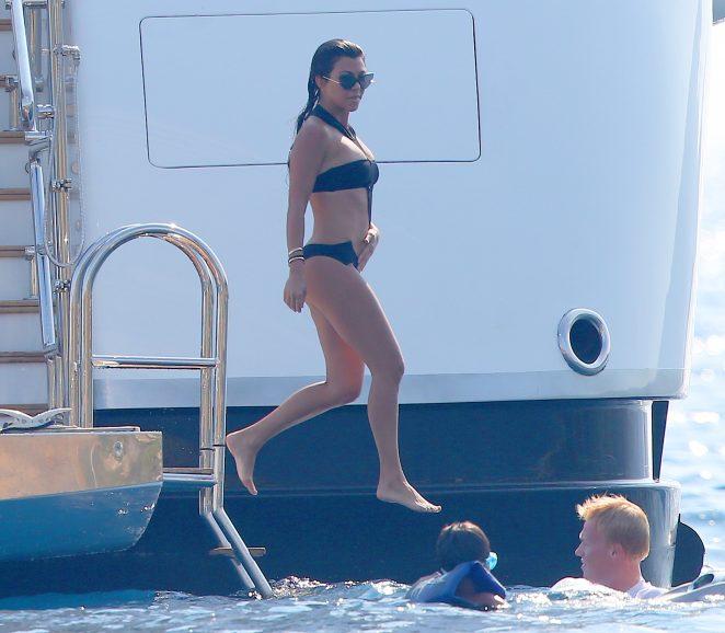 Kourtney Kardashian in Swimsuit -09