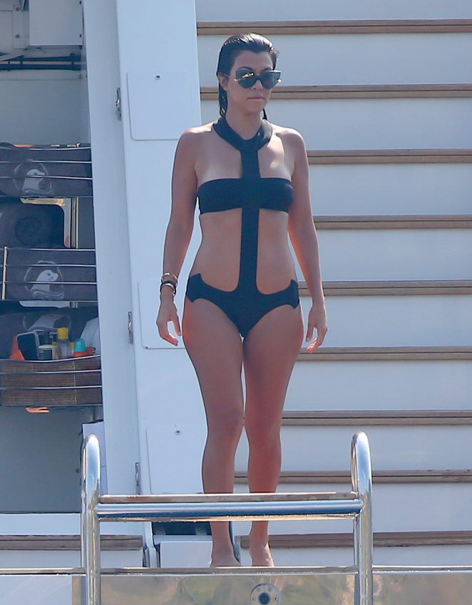 Kourtney Kardashian in Swimsuit -13
