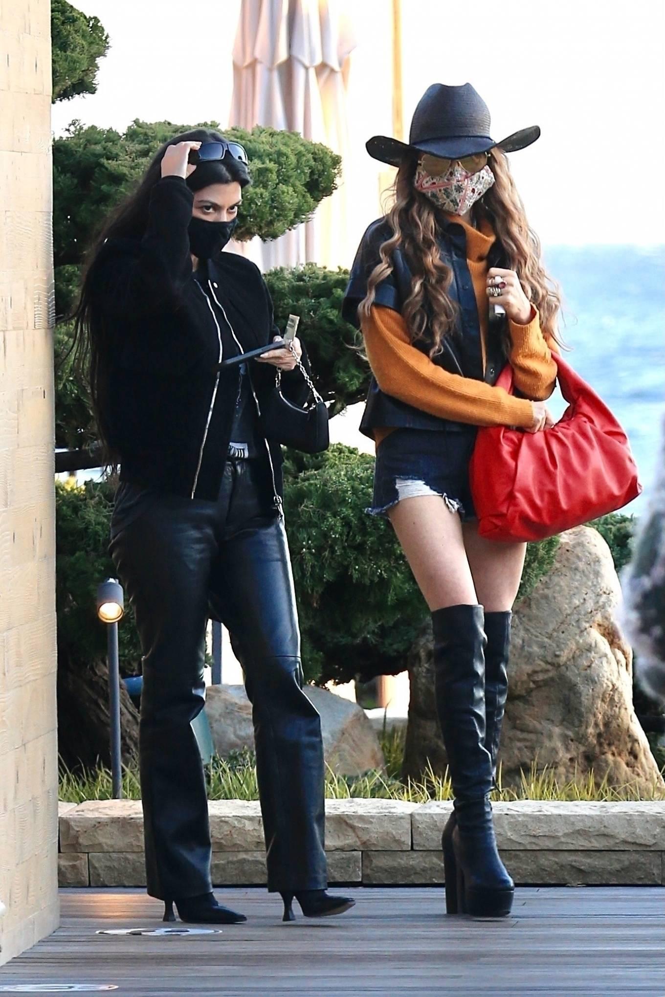 Kourtney Kardashian - With a friend at Nobu in Malibu