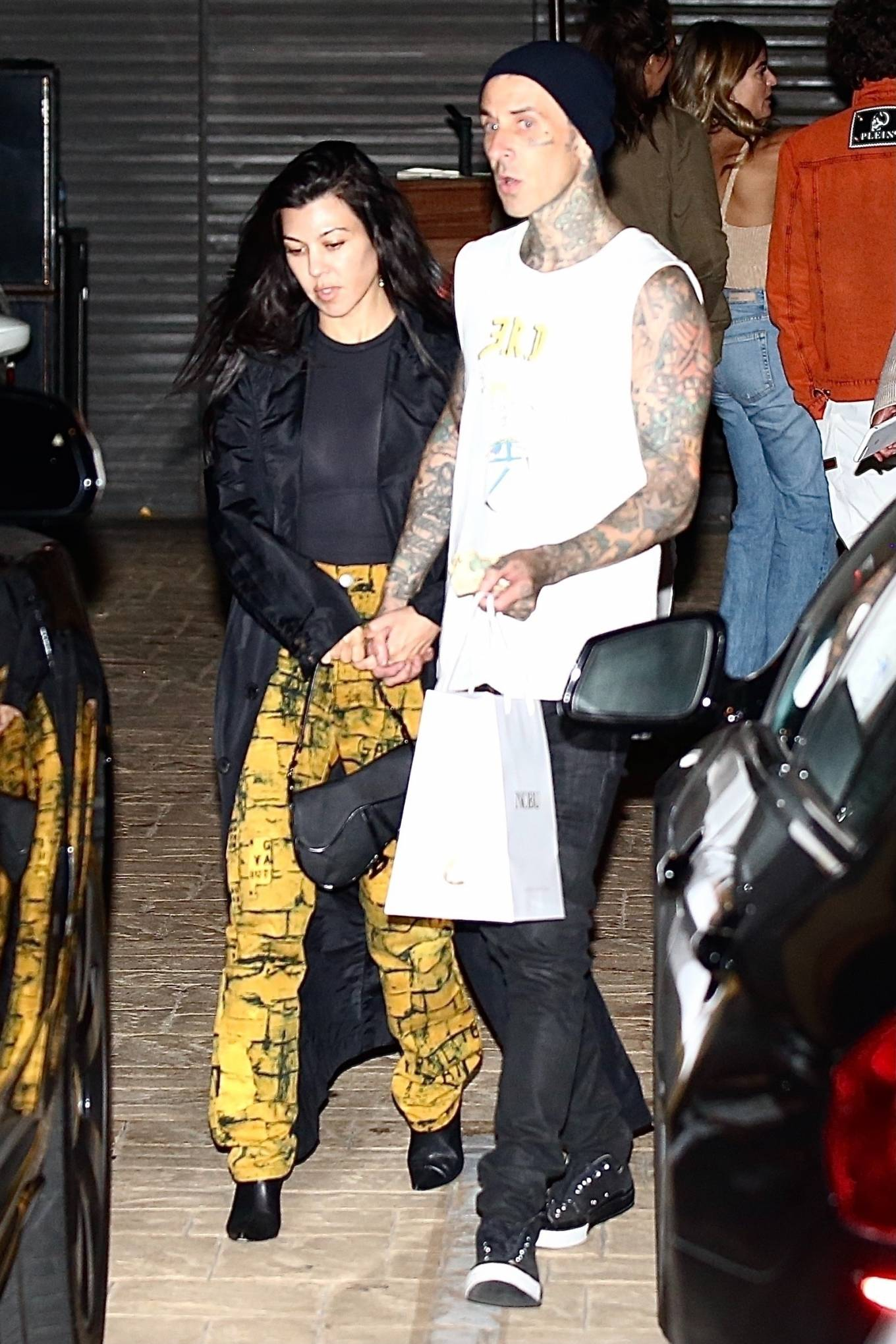 Kourtney Kardashian - With boyfriend Travis Barker seen at Nobu in Malibu