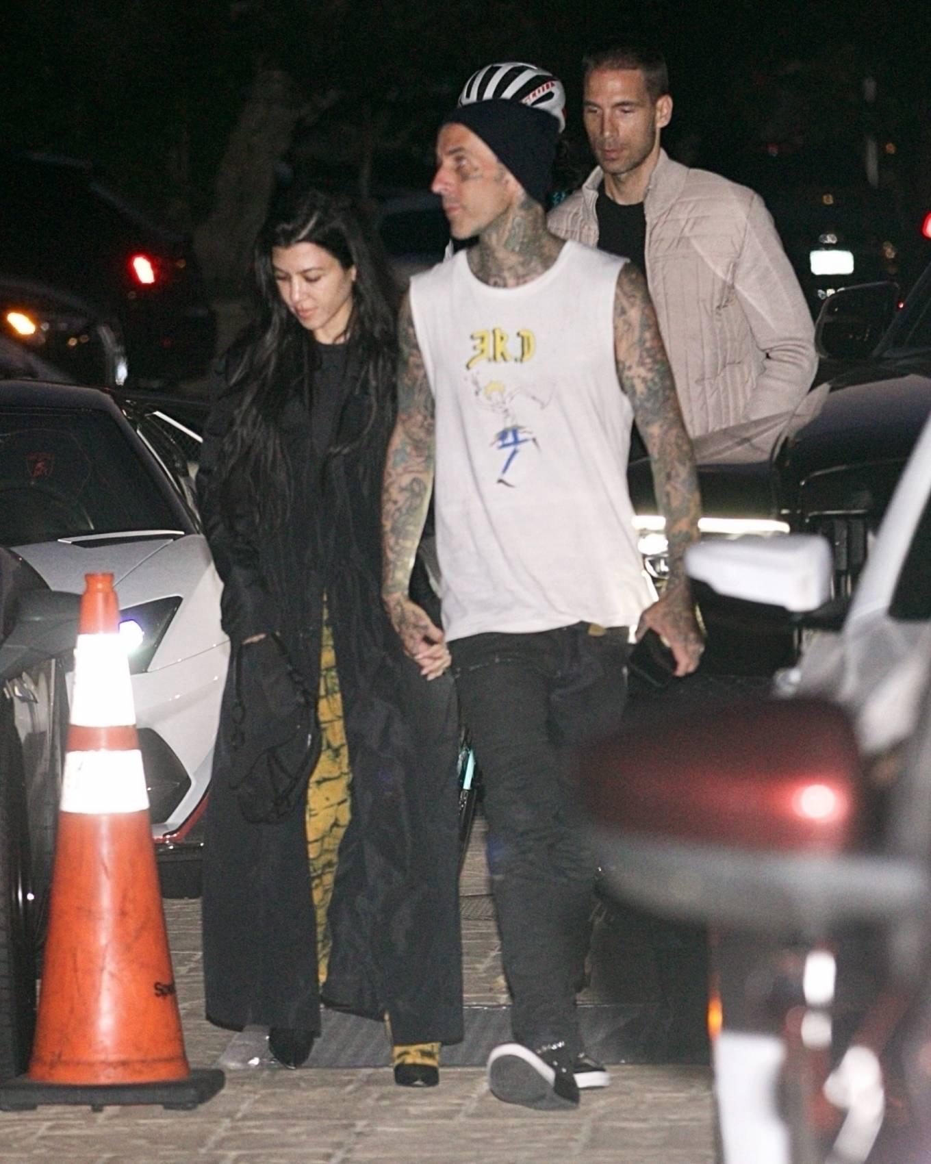 Kourtney Kardashian 2021 : Kourtney Kardashian – With boyfriend Travis Barker seen at Nobu in Malibu-18
