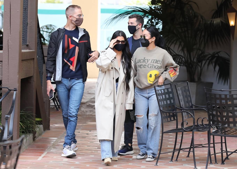 Kourtney Kardashian 2021 : Kourtney Kardashian – With Stephanie Shepherd seen at Taverna Tony in Malibu-01