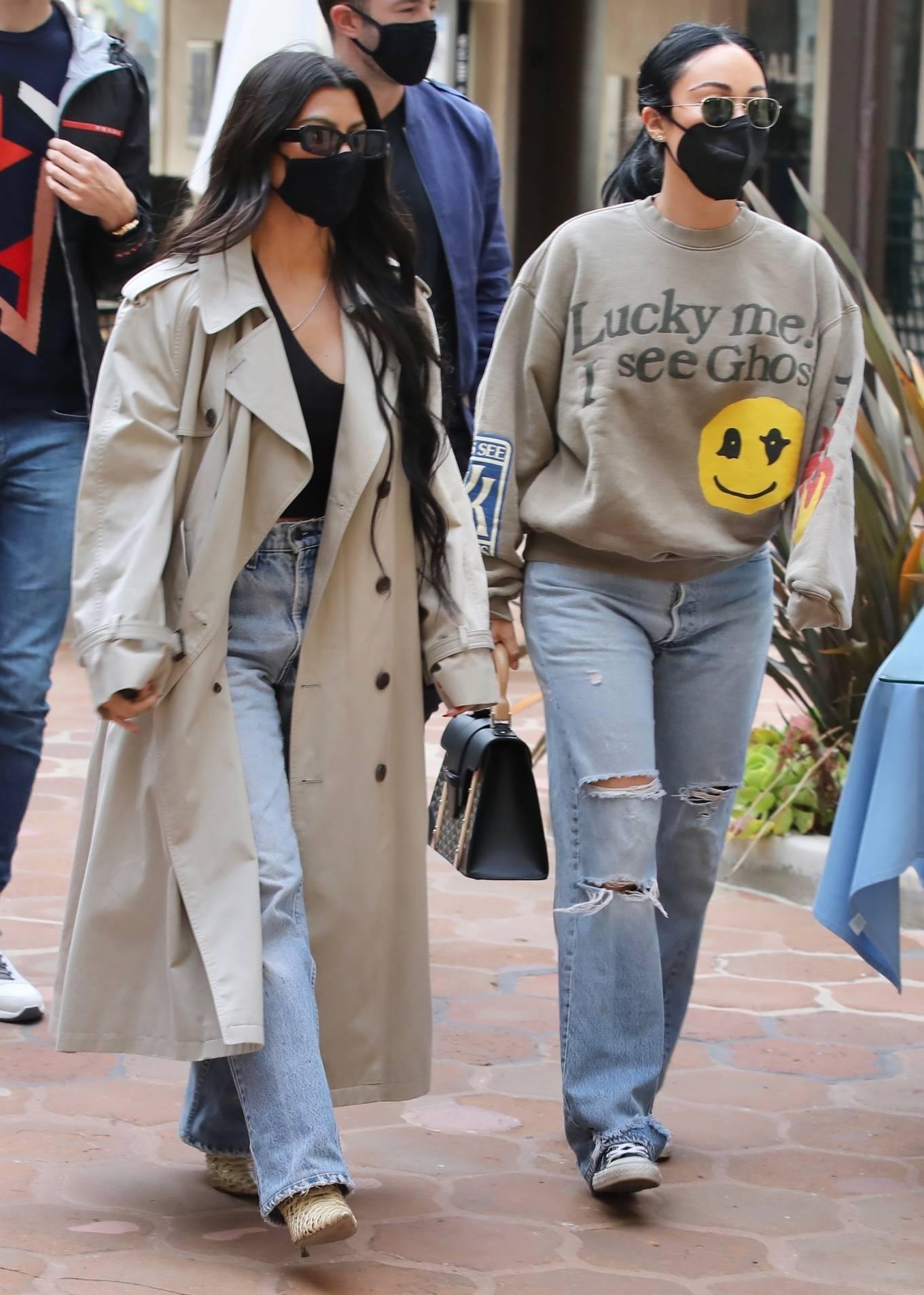Kourtney Kardashian 2021 : Kourtney Kardashian – With Stephanie Shepherd seen at Taverna Tony in Malibu-02