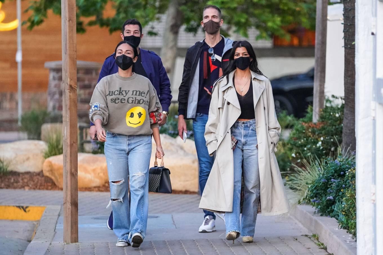 Kourtney Kardashian 2021 : Kourtney Kardashian – With Stephanie Shepherd seen at Taverna Tony in Malibu-03
