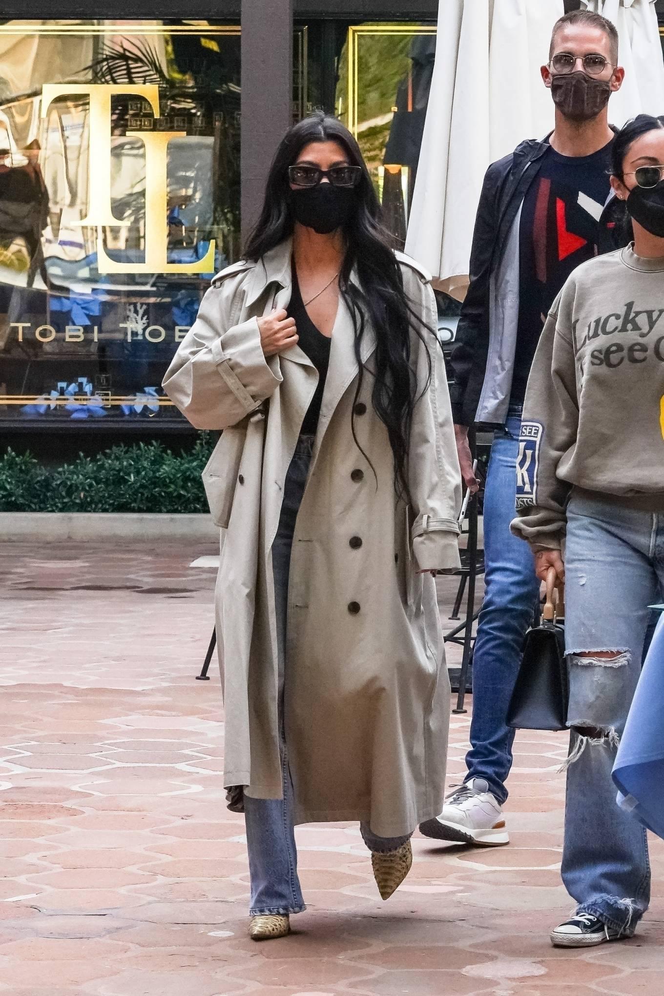 Kourtney Kardashian 2021 : Kourtney Kardashian – With Stephanie Shepherd seen at Taverna Tony in Malibu-04