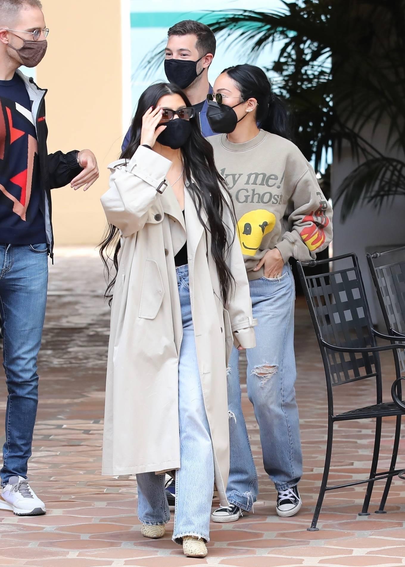 Kourtney Kardashian 2021 : Kourtney Kardashian – With Stephanie Shepherd seen at Taverna Tony in Malibu-14