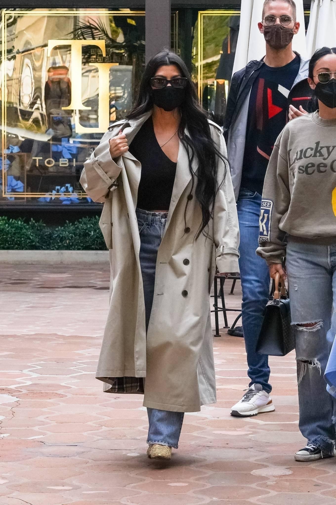 Kourtney Kardashian 2021 : Kourtney Kardashian – With Stephanie Shepherd seen at Taverna Tony in Malibu-16