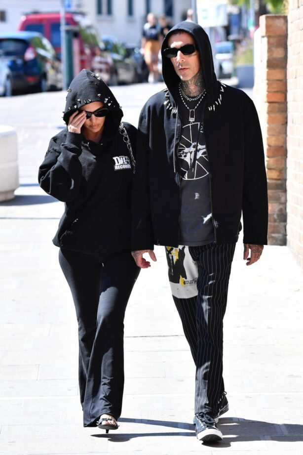 Kourtney Kardashian - With Travis Barker arrive for the Dolce and Gabbana event to Venice