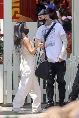 Kourtney Kardashian - With Travis Barker at Disneyland in Anaheim