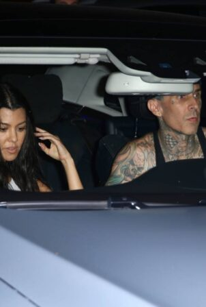 Kourtney Kardashian - With Travis Barker leaving Jaden Hossler's concert in West Hollywood